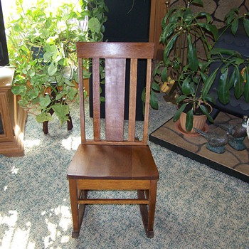 1930's Oak Sewing Rocking Chair