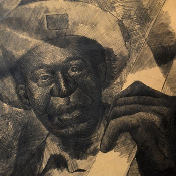 Pencil Drawing of an African American musician? Charles White?