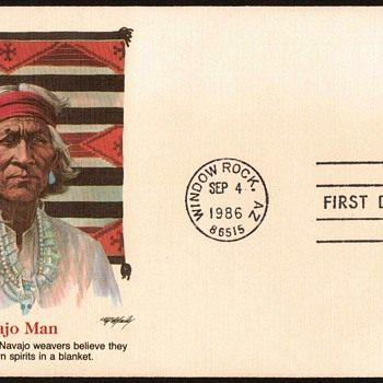 "1986 - ""Navajo Art"" Stamp First Day Cover - Man - Stamps"