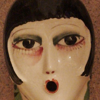 Porcelain Flapper Made In Japan Louise Brooks (?) - Art Deco
