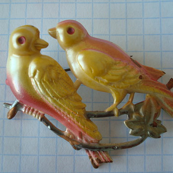 Two Birds on a Branch - Costume Jewelry