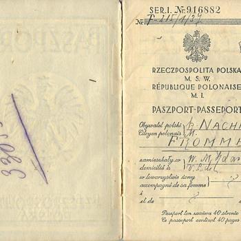 pre-1939 Polish passport from Danzig - Paper