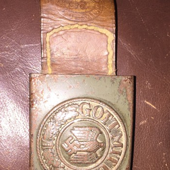 Original WW2 German Belt Buckle with Strap - Military and Wartime