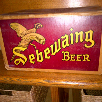 vintage Sebewaing Beer case