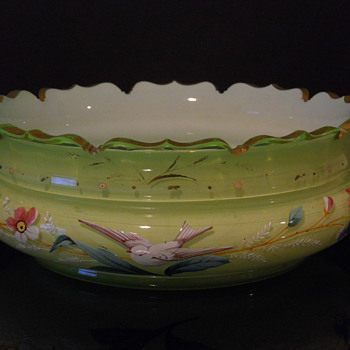 Enameled Compote Bowl