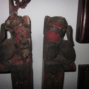 Antique foo dogs
