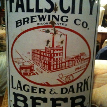 Falls City Brewing Co. Sign