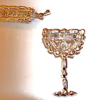 A glass of wine anyone? - Costume Jewelry