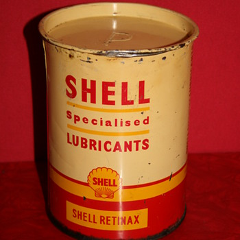 Shell grease can - Petroliana