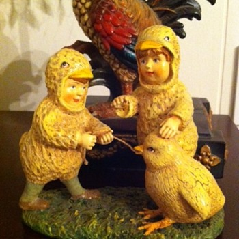 Children Figurine Dressed as Chicks
