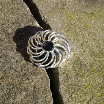 Sarah Coventry Brooch - Mystic Swirl - Costume Jewelry