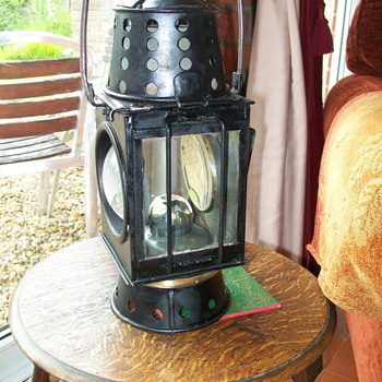 1929 military candle lamp  - Railroadiana