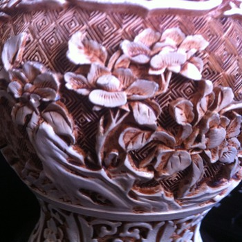 Asian Carved Ginger Jar - Asian