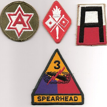 Some of the Army Shoulder Patches I Wore from 1961 to 1964