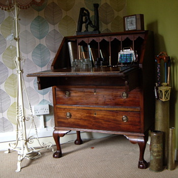 Edwardian Bureau Writing Desk - Furniture
