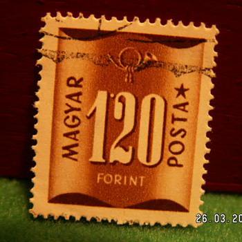 Vintage Magyar Posta 120 Forint Stamp ~ Used - Stamps