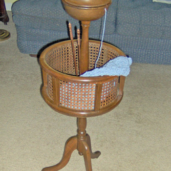 Knitting Basket Stand