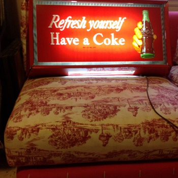 Electric coke sign