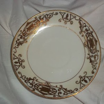 Hand painted gold plates
