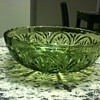 Glass bowls - Green, dont really know anything about them
