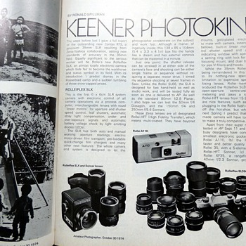 1974-amateur photographer magazine-new equipment-photokina. - Paper