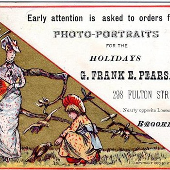 Photography Trade Card - 1880