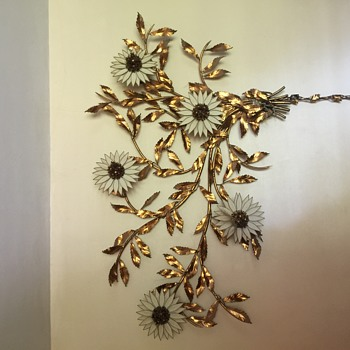 Vintage floral wall hanging lights..still works..I have never been able to find another one like it anywhere - Lamps