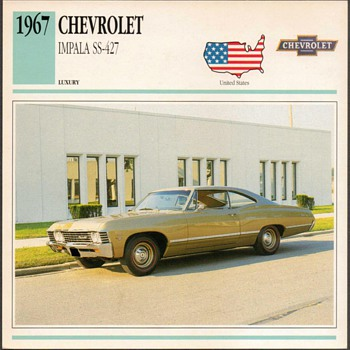Vintage Car Card - Chevrolet Impala - Cards