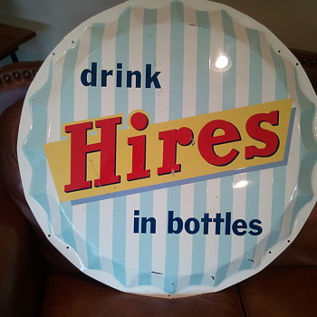 Hires button sign - Advertising