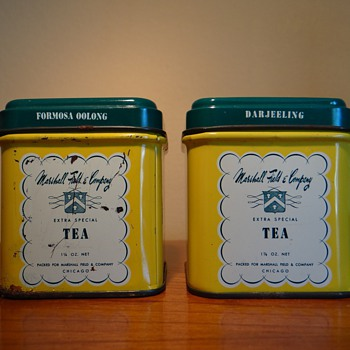 VINTAGE MARSHALL FIELD & COMPANY /TEA TINS
