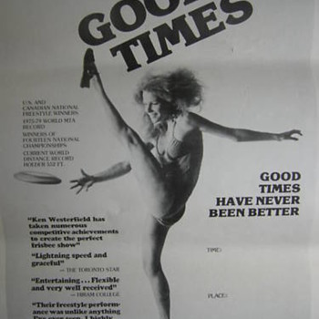 Goodtimes Professional Frisbee Show Poster 1979 - Outdoor Sports