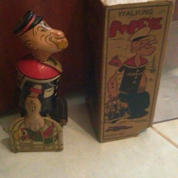 "1930's ""Marx"" Popeye Windup Toy w/ box - Toys"