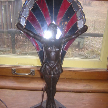 1920's Vamp Night Light - Art Deco