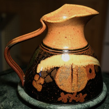 Studio Pottery Pitcher - by Richard Stafford, Eagle Harbor Stoneware, Bainbridge Island, WA