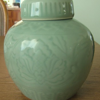 Chinese Green Celadon jar