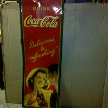 Sign from father's store!  - Coca-Cola