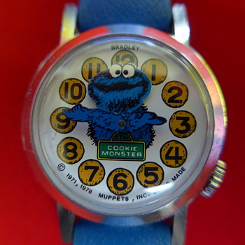 Circa 1980 Cookie Monster (animated head) Wristwatch - Wristwatches