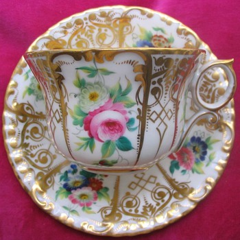 GIESSHUBEL CUP AND SAUCER - China and Dinnerware
