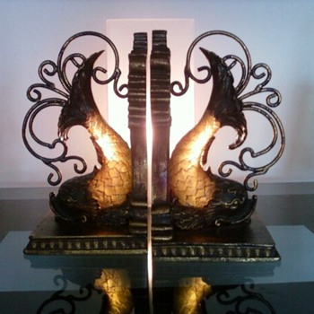 Stunning Fish (Koi?) Bookends