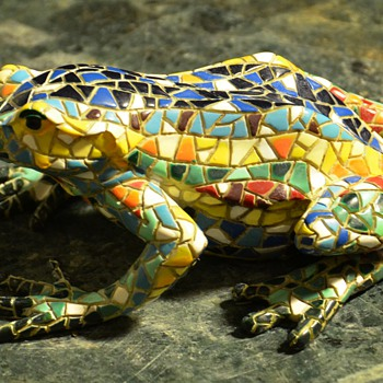 'Cloisonne' Frog - actually i think he's a resin of some kind