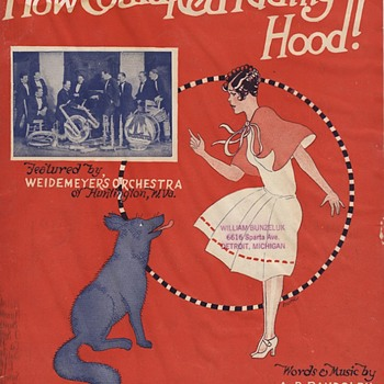 """SHEET MUSIC, BANNED FROM THE RADIO 1926, """"HOW COULD RED RIDING HOOD""""?, - Music Memorabilia"""