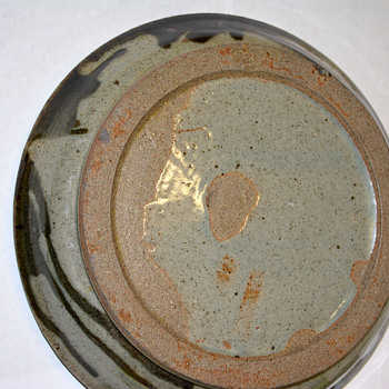 Stoneware Charger w/Mystery Mark - Art Pottery