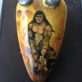Frank Frazetta gas tank art Conan the BArbarian - Motorcycles