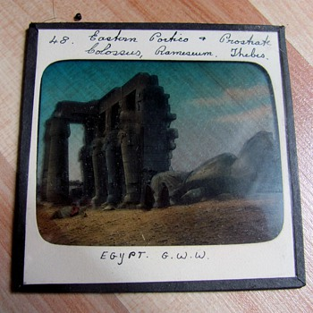 Slides from a box of Egyptian scenes (found in the attic)