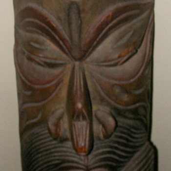 Hand carved wooden mask from Sri Kanka