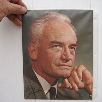 BARRY GOLDWATER PHOTO AND THANK YOU LETTER - Photographs