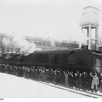 Real photos of two streamlined steam engines in my collection... - Photographs