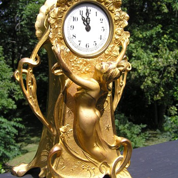 American Art Nouveau Clock - Clocks