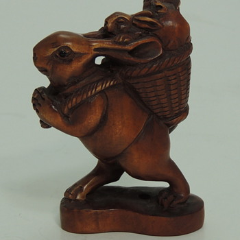 Carved Chinese Boxwood - Peter Rabbit