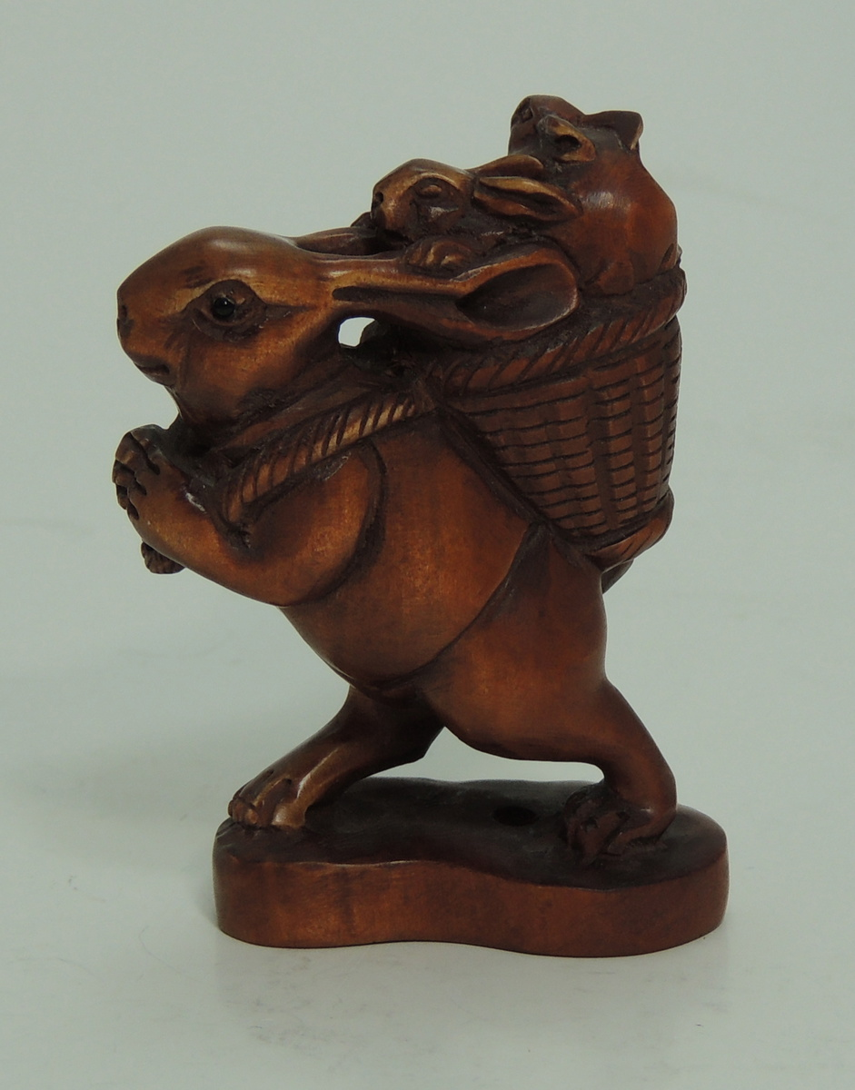 Carved chinese boxwood peter rabbit collectors weekly